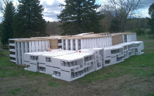 Insulating concrete forms (ICFs) delivered