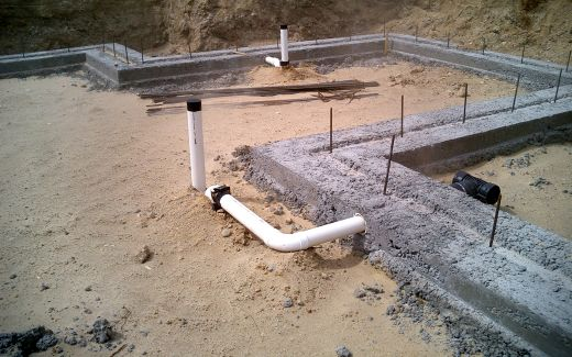 Footings in crawlspace