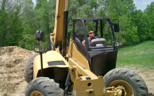Matt operating telehandler