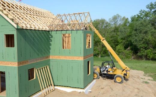 Raising roof deck materials