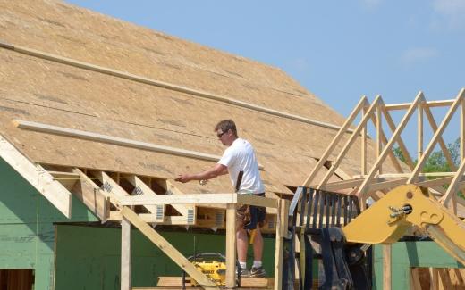 Bill working on elevated platform