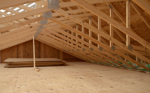 Trusses with lower deck sheets stacked