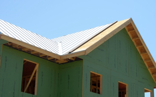 Last stretch of roofing