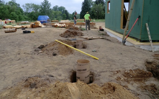 Porch pier footings