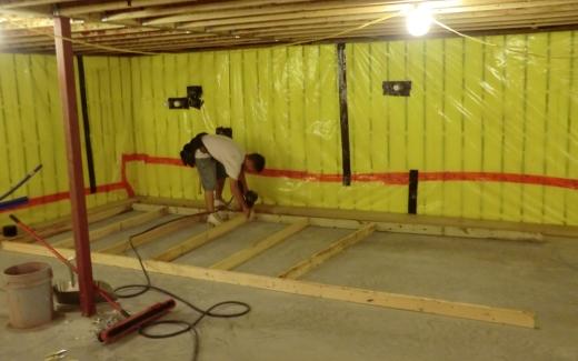 Matt framing crawlspace walls