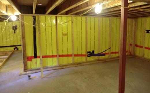 Crawlspace wall frame
