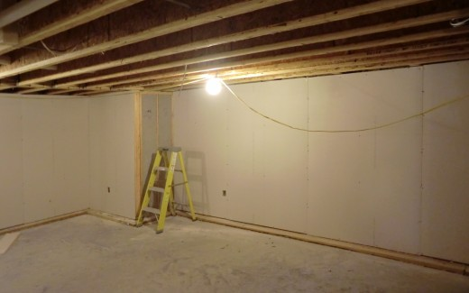 Crawlspace drywall