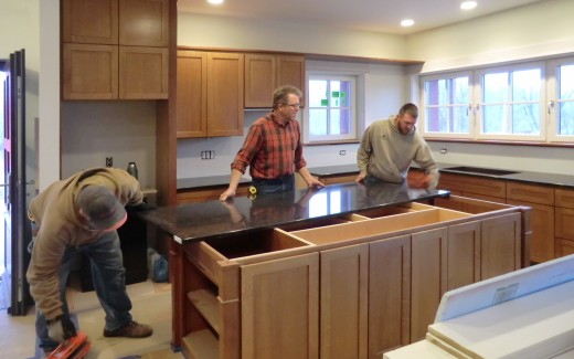 Island counter top (Michael and Lumbermen's crew)