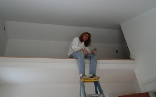 Kevin painting loft trim