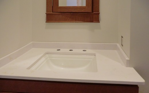 Lower bathroom vanity top