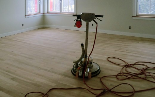 Sanded bedroom floor