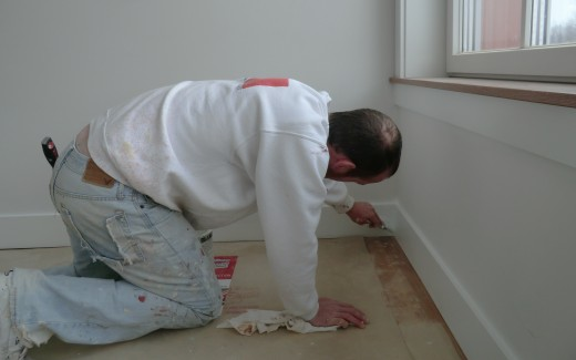 Andy painting trim